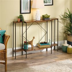 Sauder Viabella Console Table in Warm Cherry