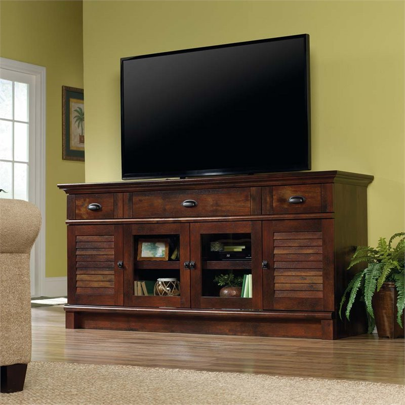 Sauder Harbor View Tv Stand In Curado Cherry 420723
