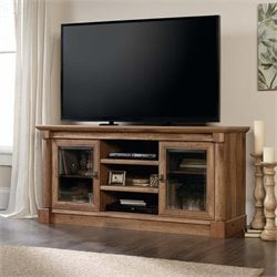 Sauder Palladia TV Stand in Vintage Oak