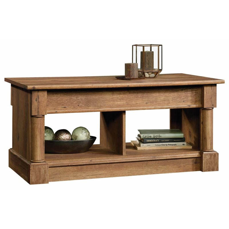 Sauder Palladia Lift Top Coffee Table In Vintage Oak 420716