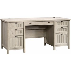 Sauder Costa Executive Desk in Chalked Chestnut