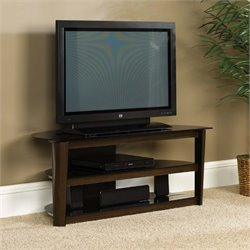 Sauder Select TV Stand in Black and Dark Cinnabar