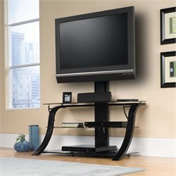 Sauder Panel TV Stand with Mount in Black
