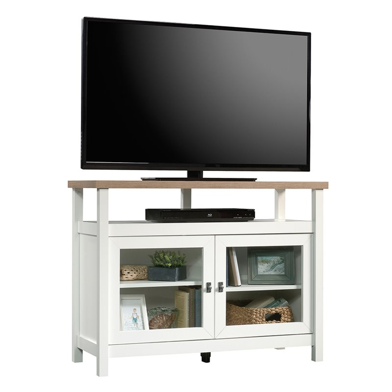 Sauder Cottage Road 42 Tv Stand In Soft White 422044