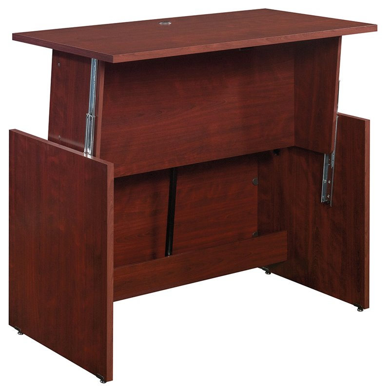 Sauder Heritage Hill Sit And Stand Desk In Classic Cherry