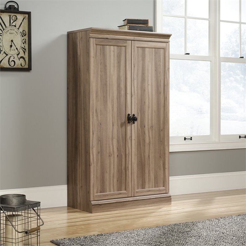 Sauder Barrister Lane Storage Cabinet in Salt Oak