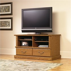 Sauder Orchard Hills TV Stand in Carolina Oak finish