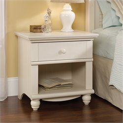 Sauder Harbor View Nightstand in Antique White