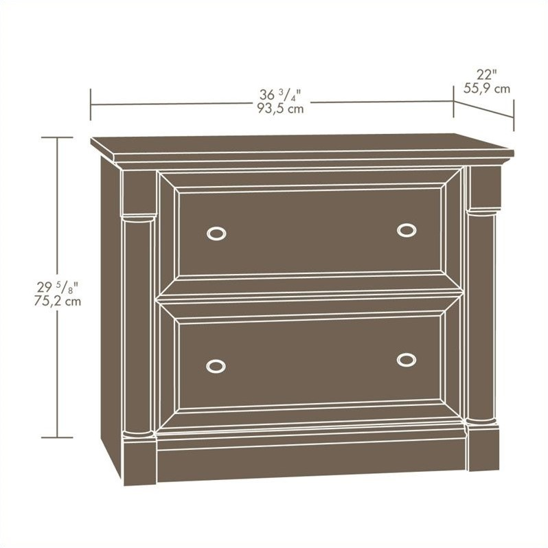 (Set of 2) Lateral File Cabinet in Cherry