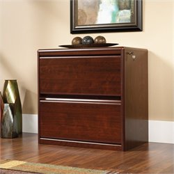 Sauder Cornerstone 2 Drawer Lateral Wood File Cabinet in Classic Cherry