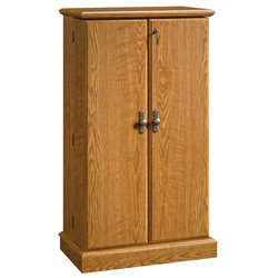 Sauder Orchard Hills Multimedia Storage Cabinet in Carolina Oak finish