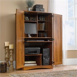 Computer Armoire in Abbey Oak