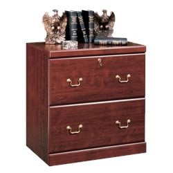 2 Drawer Lateral Wood File Cabinet in Classic Cherry