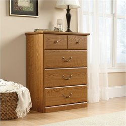 Sauder Orchard Hills 4 Drawer Chest in Carolina Oak finish