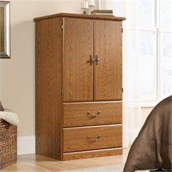Sauder Orchard Hills Armoire in Carolina Oak finish