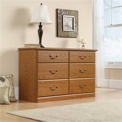 Sauder Orchard Hills Dresser in Carolina Oak finish