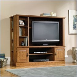 Sauder Orchard Hills Entertainment Center with Shelves in Carolina Oak finish