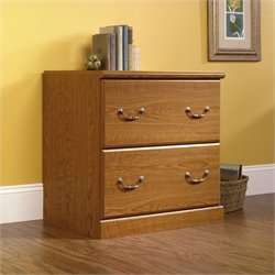 Sauder Orchard Hills 2 Drawer Wood Lateral File in Carolina Oak finish