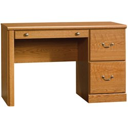 Sauder Orchard Hills Wood Computer Desk in Carolina Oak finish