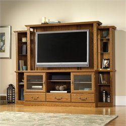 Sauder Orchard Hills Home Theater in Carolina Oak finish