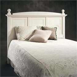 Sauder Harbor View Full/Queen Headboard in Antiqued White