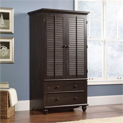 Sauder Harbor View Armoire in Antiqued Paint