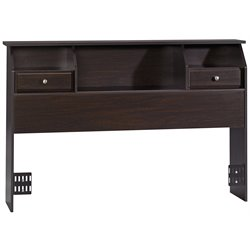 Sauder Shoal Creek Full/Queen Bookcase Headboard in Espresso