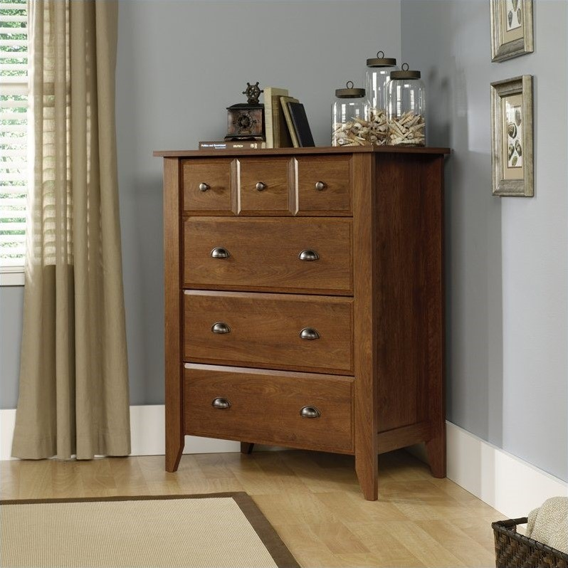 Shoal Creek 4-Drawer Chest in Oiled Oak