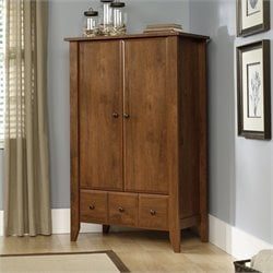 Sauder Shoal Creek Armoire in Oiled Oak