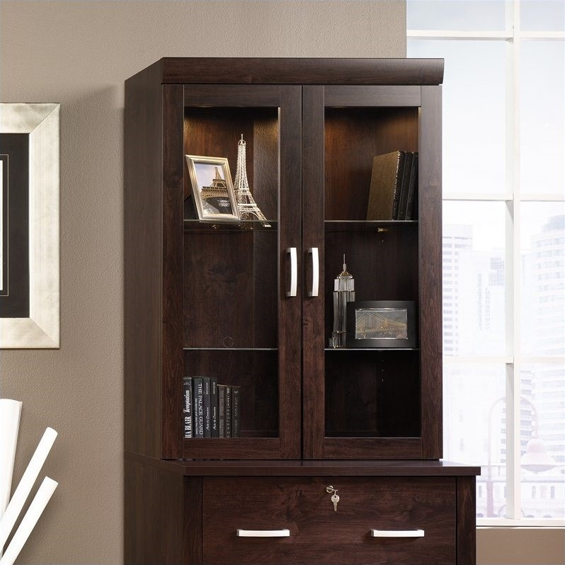 Office Port Hutch in Dark Alder