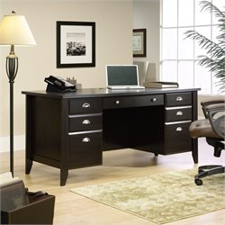 Sauder Shoal Creek Executive Desk in Jamocha Wood