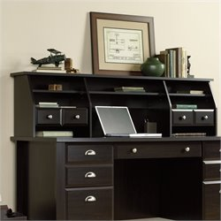 Sauder Shoal Creek Organizer Hutch in Jamocha Wood