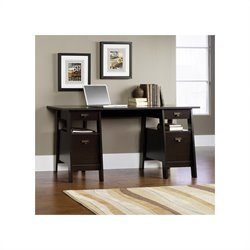 Executive Trestle Desk in Jamocha Wood