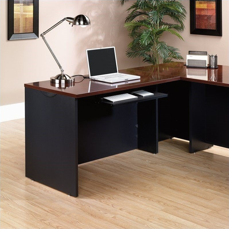 Sauder Via Desk Return in Classic Cherry