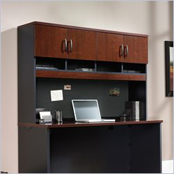 Sauder Via Hutch for Credenza in Classic Cherry