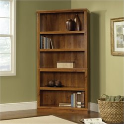 Sauder Select 5 Shelf Bookcase in Abbey Oak Finish