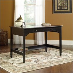 Sauder Edge Water Mobile Lifestyle Writing Desk in Estate Black