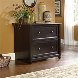 Sauder Edge Water 2 Drawer File Cabinet in Black