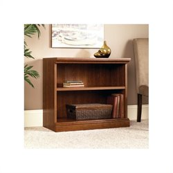 Sauder Camden County 2-Shelf Bookcase in Planked Cherry