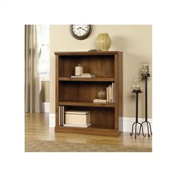 Sauder Select 3 Shelf Bookcase in Oiled Oak