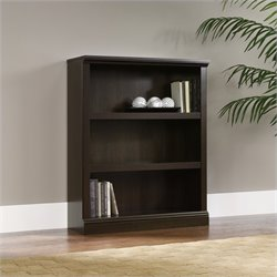 Sauder Select 3 Shelf Bookcase in Cinnamon Cherry