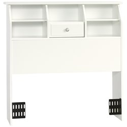 Sauder Shoal Creek Twin Bookcase Headboard in Soft White