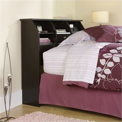 Sauder Shoal Creek Twin Bookcase Headboard in Jamocha Wood