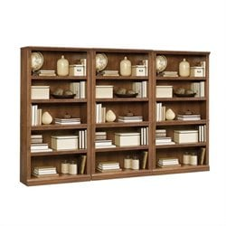 Sauder Select Five Shelf Wall Bookcase in Oiled Oak Finish