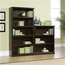 Sauder Select Wall Bookcase in Jamocha Wood finish