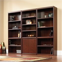 Sauder Cornerstone Library Bookcase in Classic Cherry