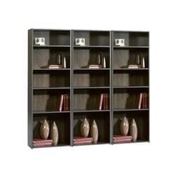 Sauder Beginnings 5-Shelf Wall Bookcase in Cinnamon Cherry