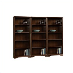 Sauder Carolina Estate 5-Shelf Wall Bookcase in Select Cherry