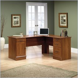 Sauder Select L-Shaped Desk in Shaker Cherry