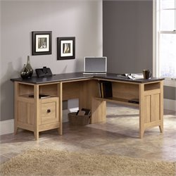 Sauder August Hill  L-Desk in Dover Oak